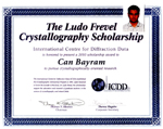2010 Ludo Frevel Crystallography Scholarship sponsored by The International Centre for Diffraction Data (ICDD) given to Can Bayram